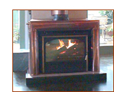 Copper fireplace insert