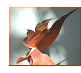 Copper bird sculpture